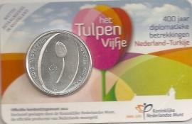 """Nederland 5 euromunt 2012 (20e) """"Het Tulpen vijfje"""" (in coincard)"""