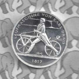 """Duitsland 20 euromunt CC 2017 (9e) """"Loopfiets van Karl Drais 1817"""", zilver"""