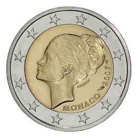 "Monaco 2 euromunt CC 2007 ""Grace Kelly"""