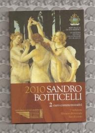 "San Marino 2 euromunt CC 2010 (7e)""Botticelli"" (in blister)"