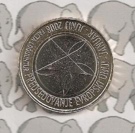 """Slovenië 3 euromunt 2008 """"EU voorzitter"""""""