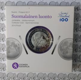"""Finland 20 euromunt 2017 """"Finse natuur"""""""