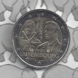 """Luxemburg 2 euromunt CC 2018 (24e) """"175 Jaar na het Overlijden van Groothertog Willem I"""""""