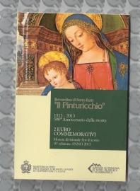 "San Marino 2 euromunt CC 2013 (10e)""500ste sterfdag van schilder Pinturicchio"" (in blister)"