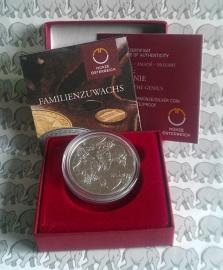 """Oostenrijk 10 euromunt 2016 """"Oberösterreich"""". Proof, zilver in doosje met certificaat."""