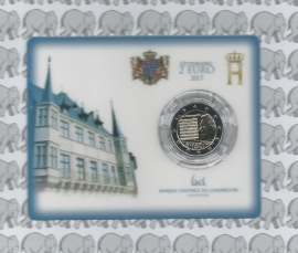 "Luxemburg 2 euromunt CC 2013 ""Nationaal volkslied"" (in coincard)"