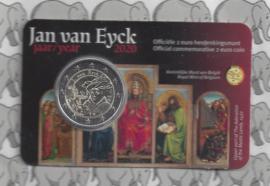 "België 2 euromunt CC 2020 (25e) ""Jan van Eyck jaar"" in coincard Nederlandse versie"