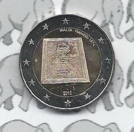 """Malta 2 euromunt CC 2015 """"Malta als zelfstandige republiek in 1974"""""""