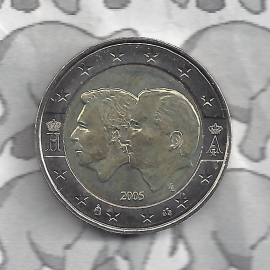 "België 2 Euromunt CC 2005 ""Henri en Albert"""
