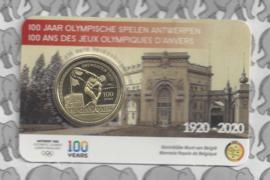 """België 2,5 euromunt 2020 """"100 jaar Olympische Spelen Antwerpen"""", reliëf BU in coincard"""