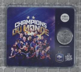 "Frankrijk 10 euromunt 2018 ""Wereld kampioen voetbal 2018"" in blister"