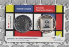 "Nederland Holland Coin Fair coincard 2020 ""Piet Mondriaan"""