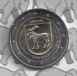 "Letland 2 euromunt CC 2018 ""provincie Zemgale"""
