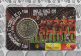 "België 2,5 euromunt 2018 ""Rode Duivels"" in coincard Franse versie"