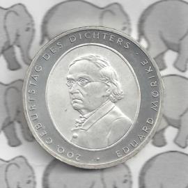 """Duitsland 10 euromunt 2004 (16e) """"200e verjaardag Eduard Mörike"""" (nikkel)."""