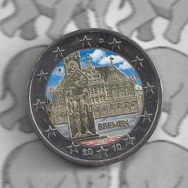 """Duitsland 2 euromunt CC 2010 """"Bremen"""" (kleur x)"""