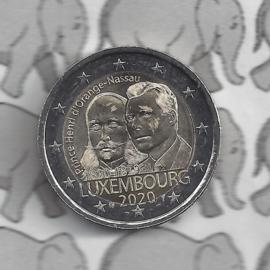 """Luxemburg 2 euromunt CC 2020 (27e) """"Prins Hendrik"""""""