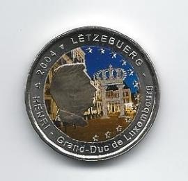 """Luxemburg 2 euromunt CC 2004 """"Monogram"""" (kleur 2 x)"""