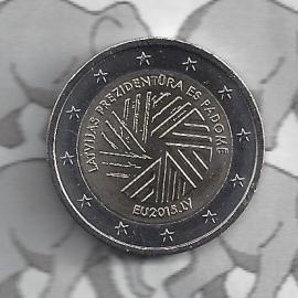 """Letland 2 euromunt CC 2015 """"Voorzitterschap Europese Unie"""""""