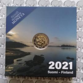 "Finland 2 euromunt CC 2021 (29e) ""Journalistiek"" (proof)"