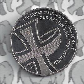 "Duitsland 10 euromunt 2015 (3e) ""150 jaar reddingsbrigade schipbreukelingen"" (nikkel)."