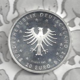 """Duitsland 20 euromunt 2018 (11e) """"Kikker Koning"""", zilver"""