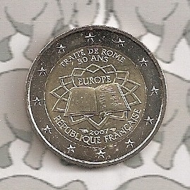 """Frankrijk 2 euromunt CC 2007 (1e)""""Verdrag van Rome"""""""