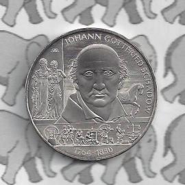 "Duitsland 10 euromunt 2014 (2e) ""250ste verjaardag Johann Gottfried Schadow"" (nikkel)"
