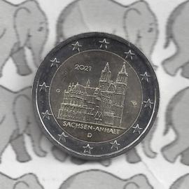 """Duitsland 2 euromunt CC 2021 (25e) """"Saksen-Anhalt (Kathedraal van Maagdenburg)"""" (letter G)"""