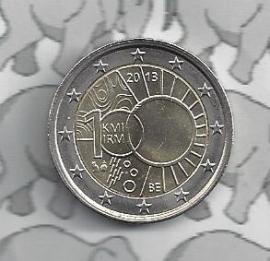 """België 2 euromunt CC 2013 """"100 jaar Koninklijke Meteorologisch Instituut"""""""