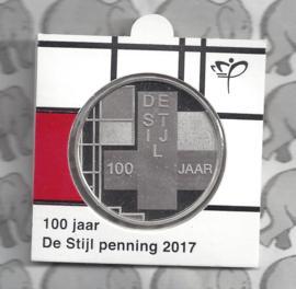 """Nederland penning 2017 """"De Stijl"""". Uitgegeven door KNM in munthouder (11)"""