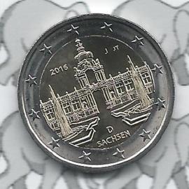 """Duitsland 2 euromunt CC 2016 """"Zwinger van Dresden, Saksen"""" (letter J)"""
