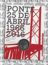 "Portugal 2 euromunt CC 2016 ""50 jaar brug"" BU in blister"