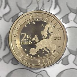 """België 2,5 euromunt 2021 """"5 jaar Belgische Biercultuur immaterieel erfgoed"""""""