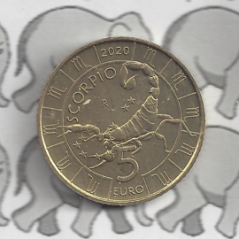 """San Marino 5 euromunt 2020 """"Horoscoop Schorpioen"""" (9 van 12)"""