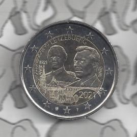 "Luxemburg 2 euromunt CC 2021 (29e) ""100e Geboortedag van Groothertog Jean"" in reliëf variant"