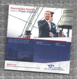 """Nederland BU set 2020 """"Koninklijke familie tijdens 75 jaar vrijheid"""""""