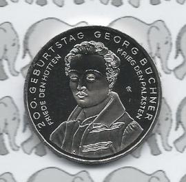 """Duitsland 10 euromunt 2013 (4e) """"200. verjaardag Georg Büchner"""" (nikkel)"""