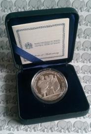 """Malta 10 euromunt 2016 """"450 jaar bestaan van Valetta stichting"""". Proof, zilver in doosje met certificaat X"""