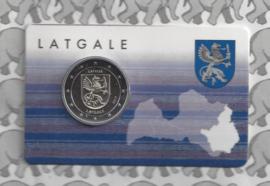 """Letland 2 euromunt CC 2017 """"Provincie Latgale"""" (in coincard)"""