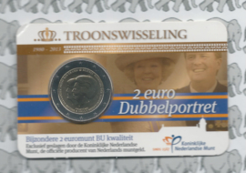 "Nederland 2 euromunt CC 2013 ""Troonswisseling"" (in Coincard BU)"
