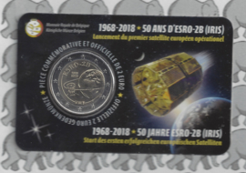 "België 2 euromunt CC 2018 ""50 Jaar na de lancering van de satelliet ESRO 2B"" in coincard Franse versie"