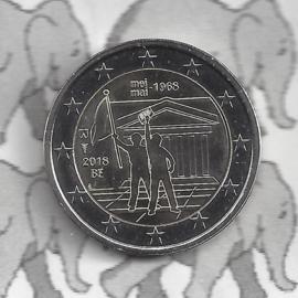 "België 2 euromunt CC 2018 ""50 jaar mei 1968"""
