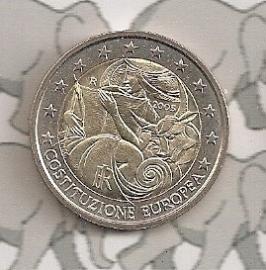 """Italië 2 euromunt CC 2005 """"60 jaar Europese Grondwet"""""""