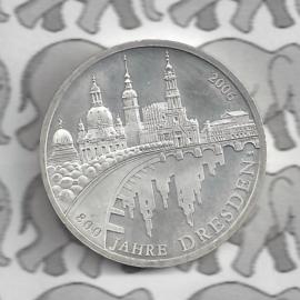 """Duitsland 10 euromunt 2006 (27e) """"800 Jaar Dresden"""" (nikkel)."""