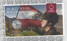 """Oostenrijk 5 euromunt 2015 (28e) """"Strijdkrachten"""" (zilver in blister X)"""