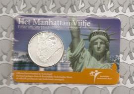 """Nederland 5 euromunt 2009 """"400 jaar Nederland-Manhatten"""" (in coincard)"""