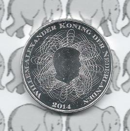 """Nederland 5 euromunt 2014 (27e) """"200 jaar Nederlandsche Bank"""" (los)"""