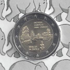 "Malta 2 euromunt CC 2020 ""Tempel van Skorba"", met muntteken Monnaie de Paris."