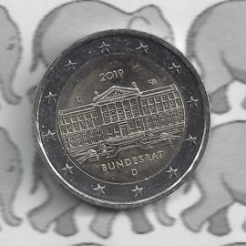 """Duitsland 2 euromunt CC 2019 """"70 Jaar Bondsraad"""" (letter D)"""